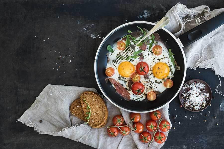 Healthy breakfast catering