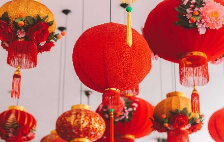 Red lanterns for the Chinese New Year celebration