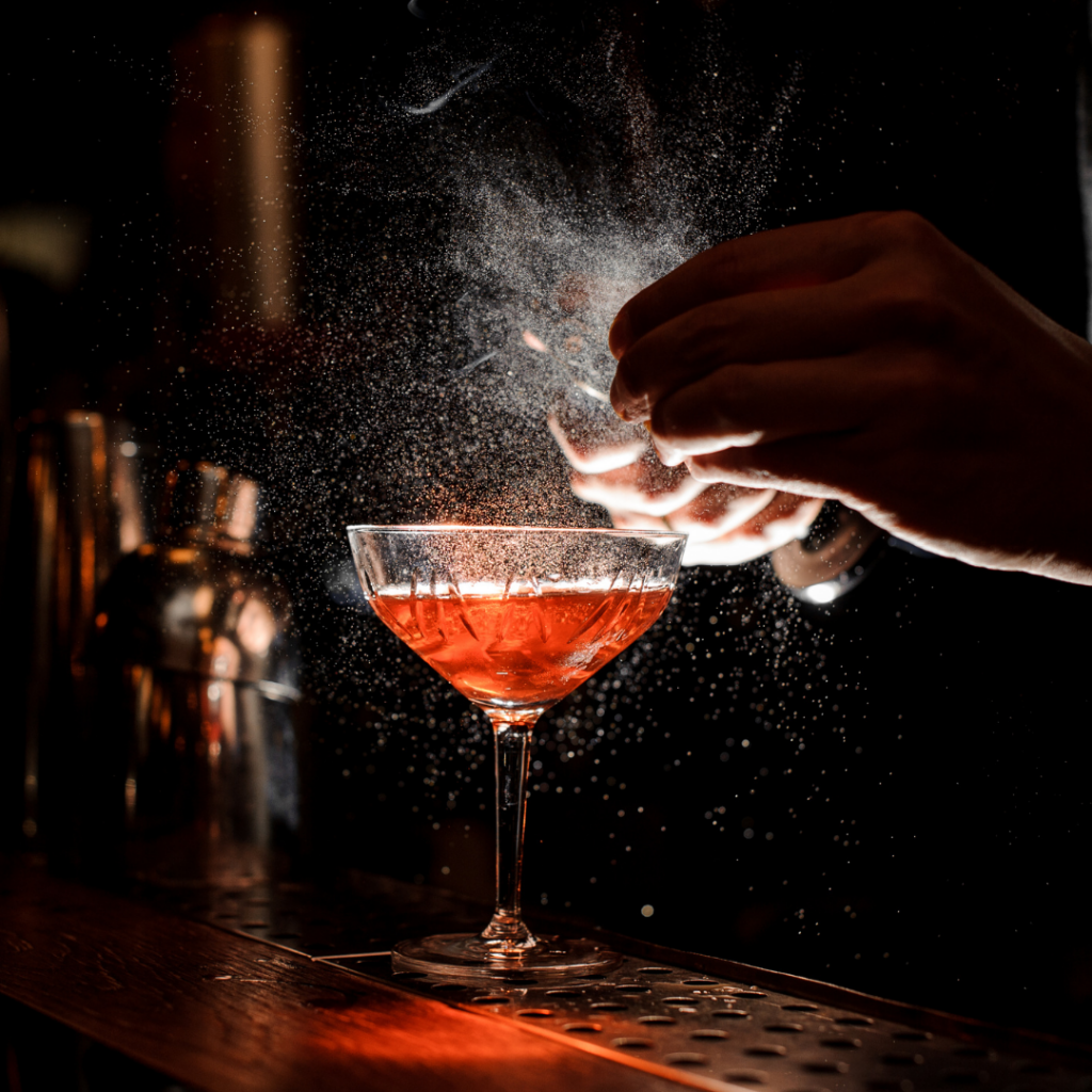 Mixologist prepared custom cocktails for your event