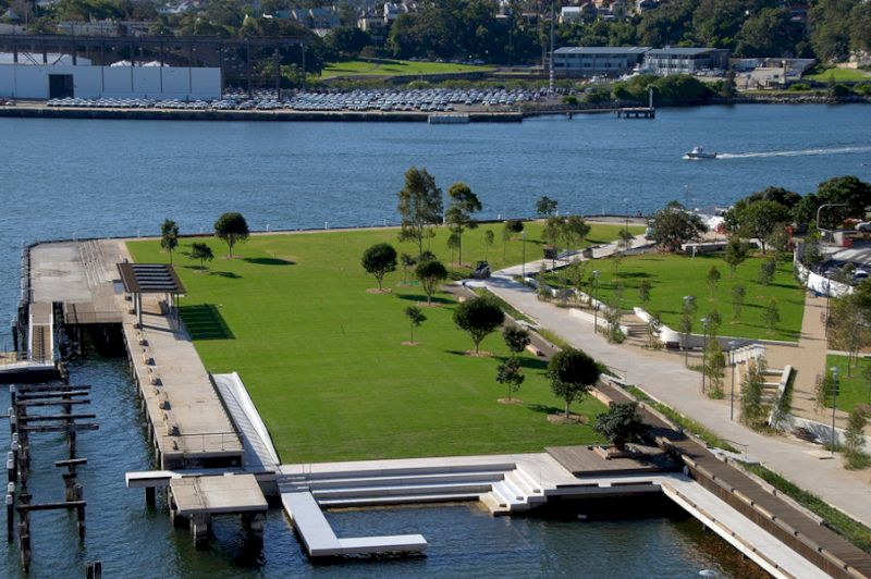 Pirrama Park Sydney Pyrmont large green space view