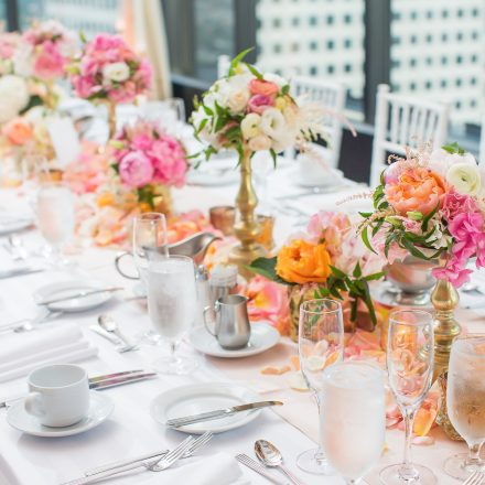 Fine dining table decor