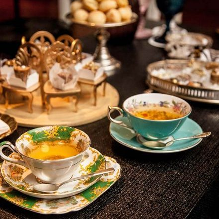 fancy afternoon tea concept